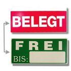 Liegeplatzschild frei/belegt