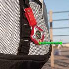 Schlüsselanhänger Kompass rot