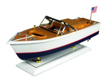 Holz-Modellboot amerik. Model 35x14x12 cm