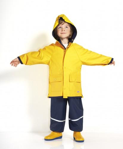 Regenjacke, Ostfriesennerz gelb für Kinder