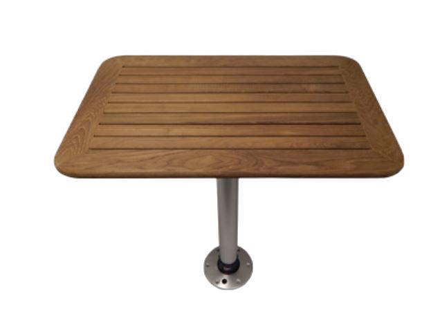Teakholz Tisch kpl. rund 610 mm