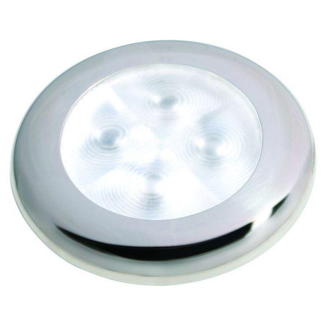 LED Deckenleuchte - Slim Line rostfrei poliert