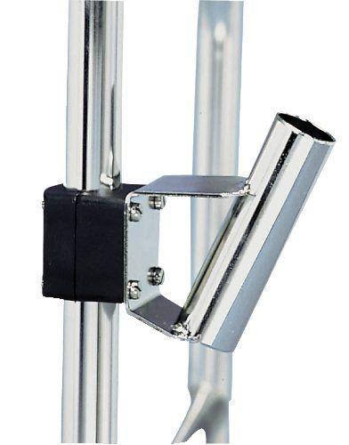 Edelstahl Flaggenstockhalter für Reling 22 o 25 mm Für Flaggenstock 25 mm